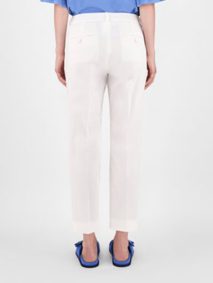 Weekend By Max Mara Trousers Weekend Max Mara FARAONE White Cotton Trousers 51310611 001 izzi-of-baslow