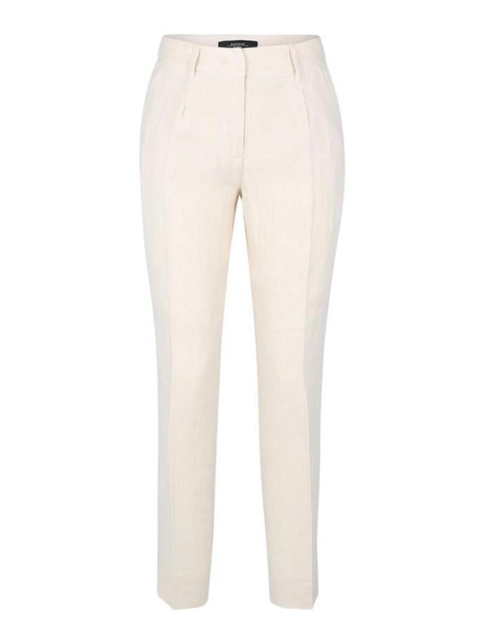 Weekend By Max Mara Trousers Weekend Max Mara MANNA Creamy Beige Linen Trousers 51310411 015 izzi-of-baslow