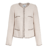 Weill Coats and Jackets Weill Mariata Jacket in Beige With Cream Flecks and Chain Edge 131028 izzi-of-baslow