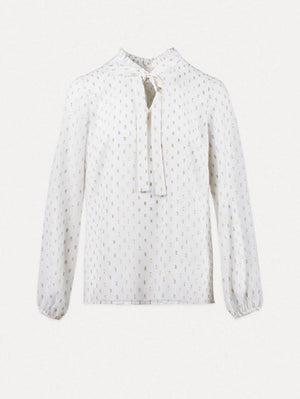 Weill Tops Weill Mathea Blouse White Gold 127011 izzi-of-baslow