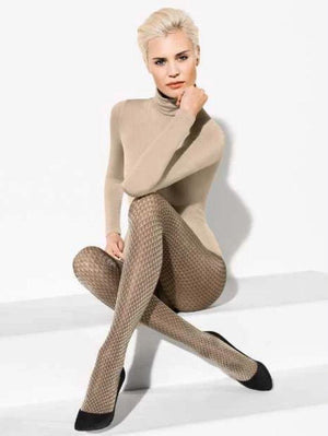 Wolford Accessories Wolford Brit Cobalt/Black Tights 14414 izzi-of-baslow