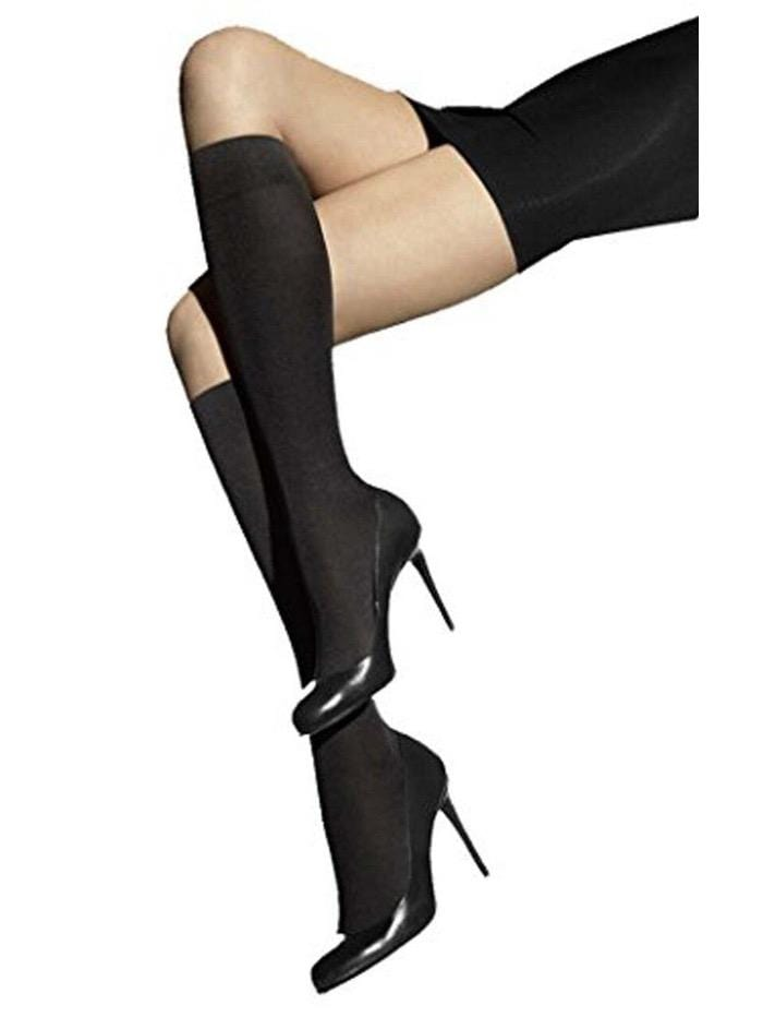 Wolford Accessories Wolford Cotton Velvet Knee Highs Black 31060 izzi-of-baslow