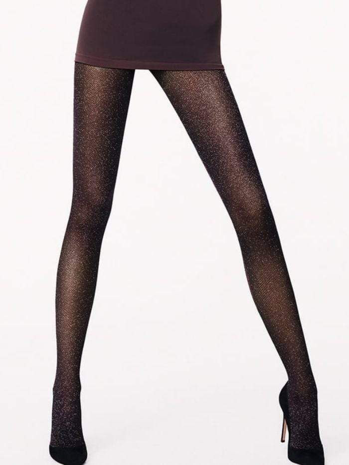 Wolford Accessories Wolford Lurex Net Black Glittery Tights 14624 izzi-of-baslow
