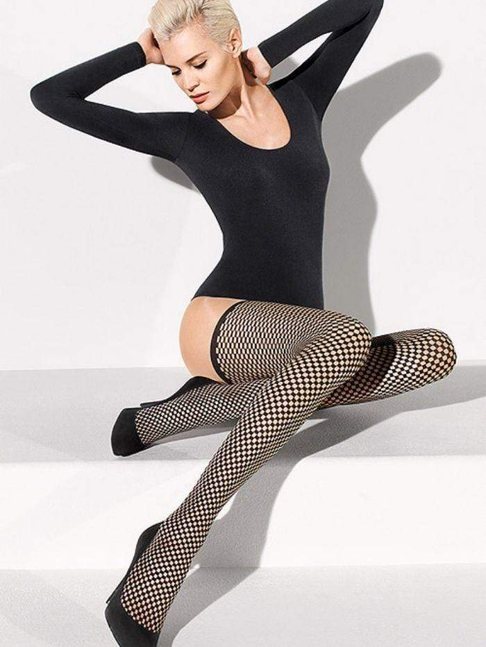 Wolford Accessories Wolford Niki Hold Up Tights Black 28069 izzi-of-baslow