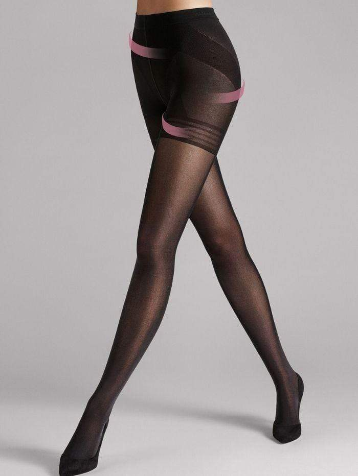 Wolford Accessories Wolford Power Shape 50 Control Top Black Tights 14434 izzi-of-baslow