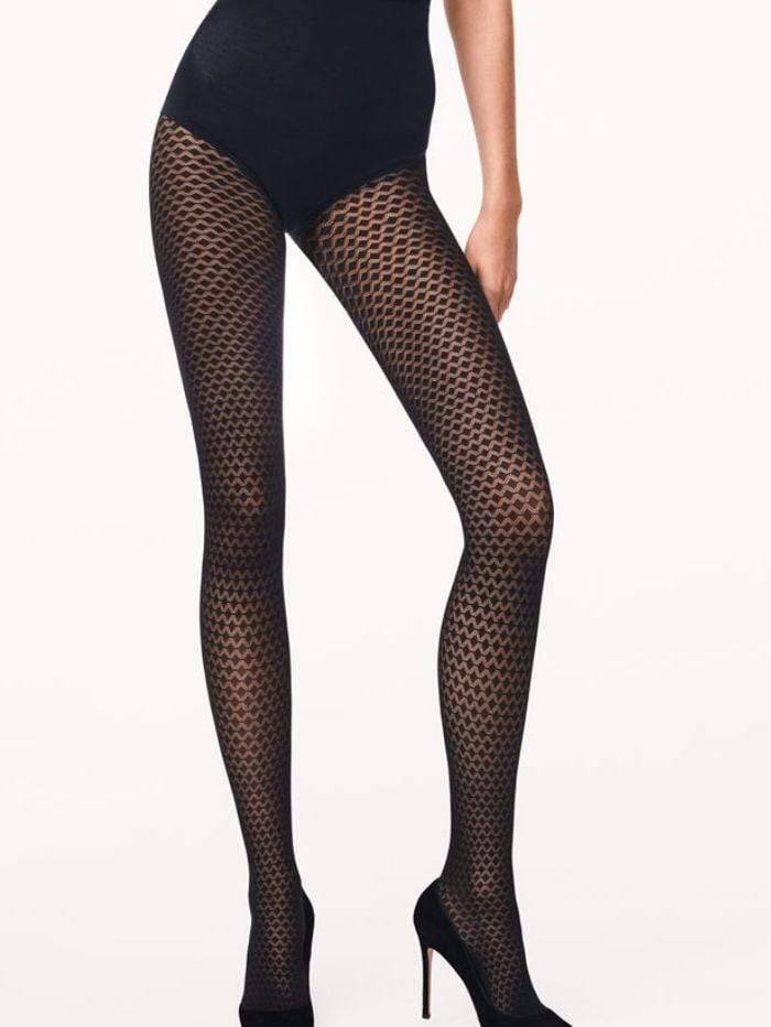 Wolford Accessories Wolford Rhomb Tights Black 14610 izzi-of-baslow