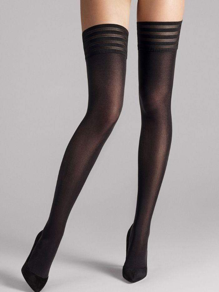 Wolford Accessories Wolford Velvet De Luxe 50 Stay-Up Black 20942 izzi-of-baslow