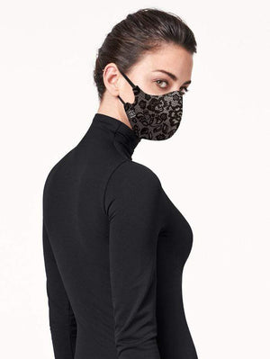 Wolford Ready To Wear By Wolford OS Wolford Care Lace Face Mask 96233 izzi-of-baslow