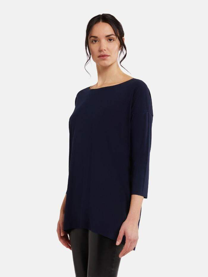Wolford Ready To Wear By Wolford Wolford Aurora Navy Opal Pure Cut Pullover 52802 5674 izzi-of-baslow