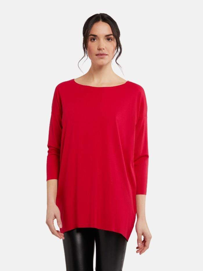 Wolford Ready To Wear By Wolford Wolford Aurora Red Pure Cut Pullover 52802 3982 izzi-of-baslow