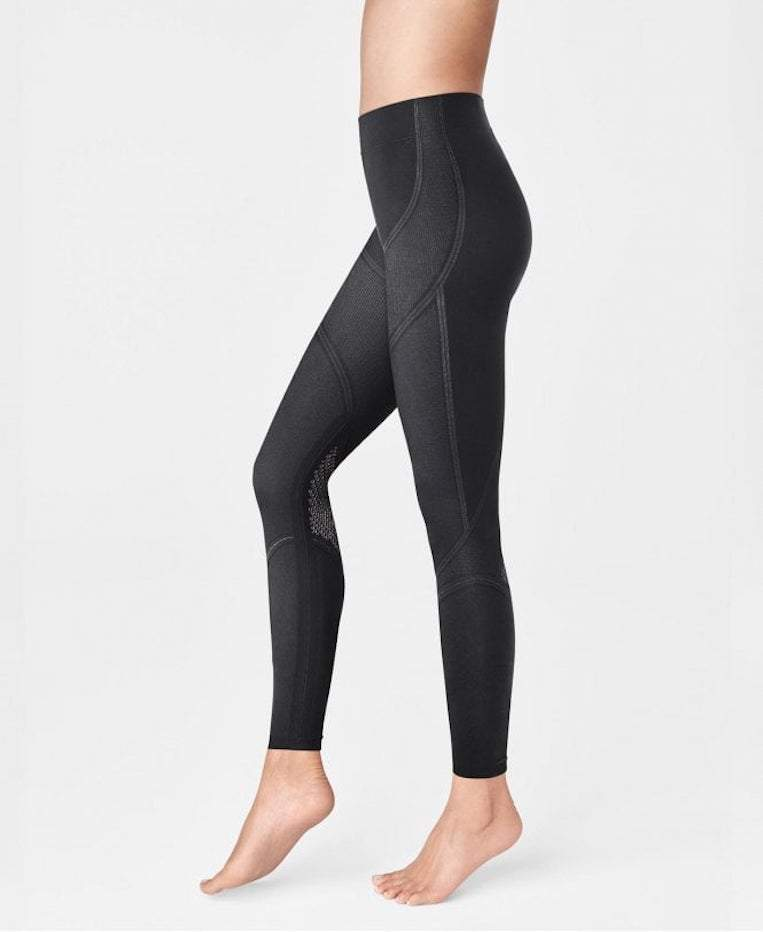 Wolford Ready To Wear By Wolford Wolford Black and Ash Zen Leggings 19302 izzi-of-baslow