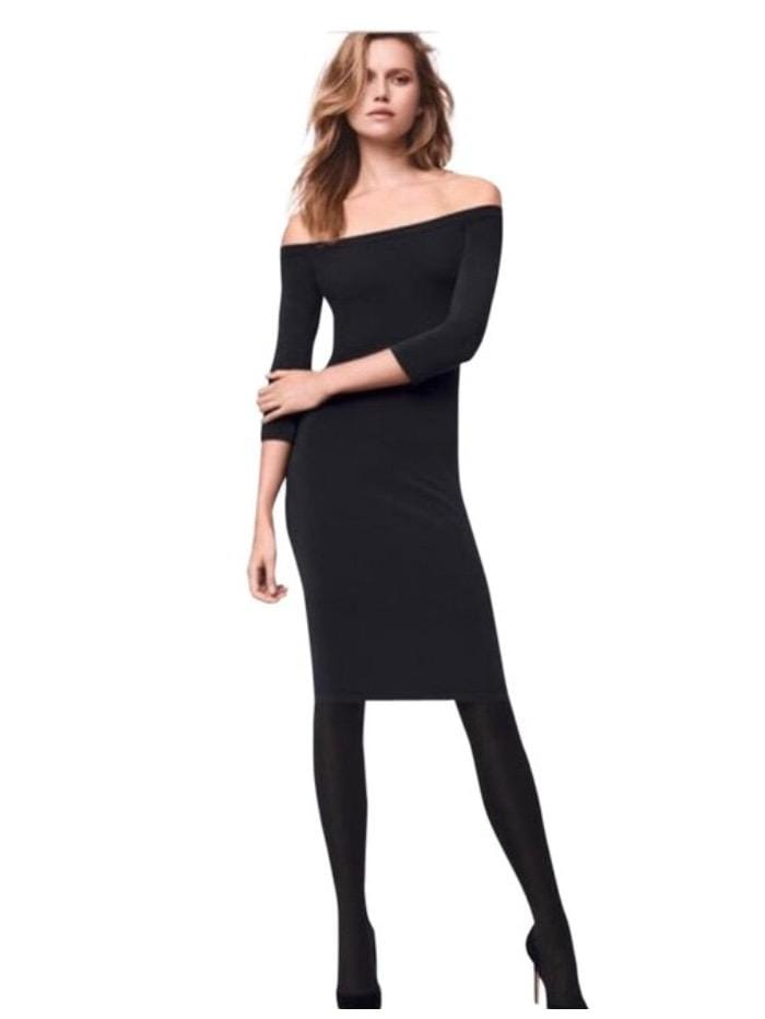 Wolford Ready To Wear By Wolford Wolford Black Dress sheen  izzi-of-baslow