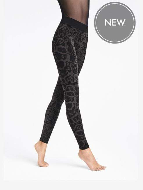 Wolford Ready To Wear By Wolford Wolford Blotched Snake Leggings Nearly Black/Black izzi-of-baslow