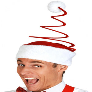 Funny Christmas Hat with Coil Spring Special Xmas Hats
