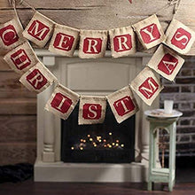 Load image into Gallery viewer, Christmas Party Decoration Burlap Banner Hanging Flag