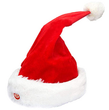 Load image into Gallery viewer, Dancing & Singing Moving Christmas Hat Plush Red Xmas Party Hat Decor Gifts