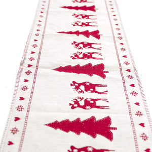 Linen Christmas Table Runners Table Flags for Xmas Party Decor