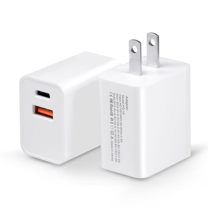 18W 2-Port Wall Quick Charger