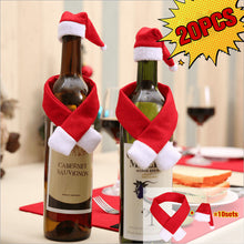 Load image into Gallery viewer, Creative Christmas Mini Scarf Hat Wine Bottle Decoration Set