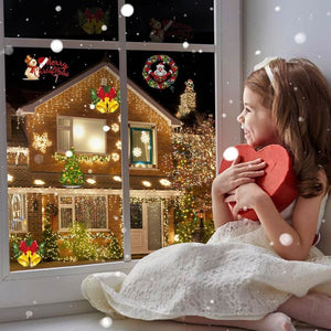 12 Cards Snowflake Lights Christmas Projector Lights
