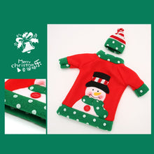 Load image into Gallery viewer, 3pcs Ugly Sweater Christmas Wine Bottle Covers for Christmas Party Decorations