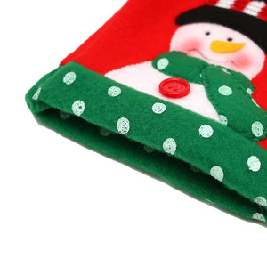 3pcs Ugly Sweater Christmas Wine Bottle Covers for Christmas Party Decorations