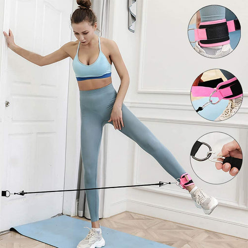 【HARDA Home Fitness】Harda Ankle Strap Elastic Resistant Band for Butt Lift Exercise Yoga