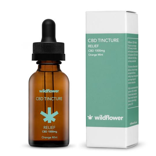 Wildflower CBD+ Relief Tincture - Orange Mint, 1,000mg, 30mL
