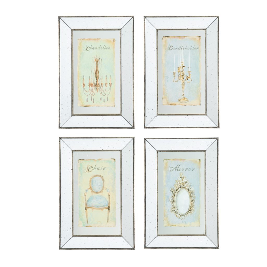 Cuadros decorativos vintage - Set de 4