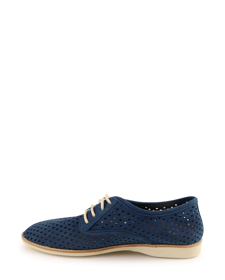Derby Punch Flat Lace Up Suede