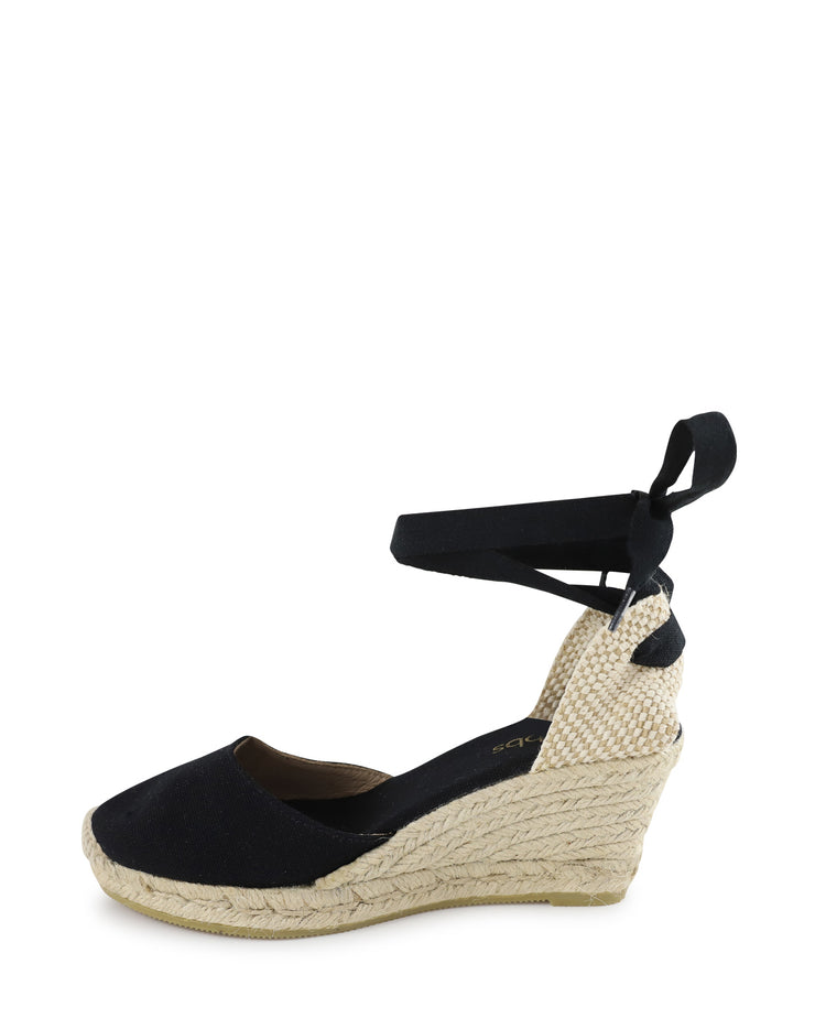 LONA -Lace Up Espadrille Wedge