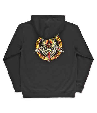 Spitfire Touch Of Satan Hoodie - Mens - Black