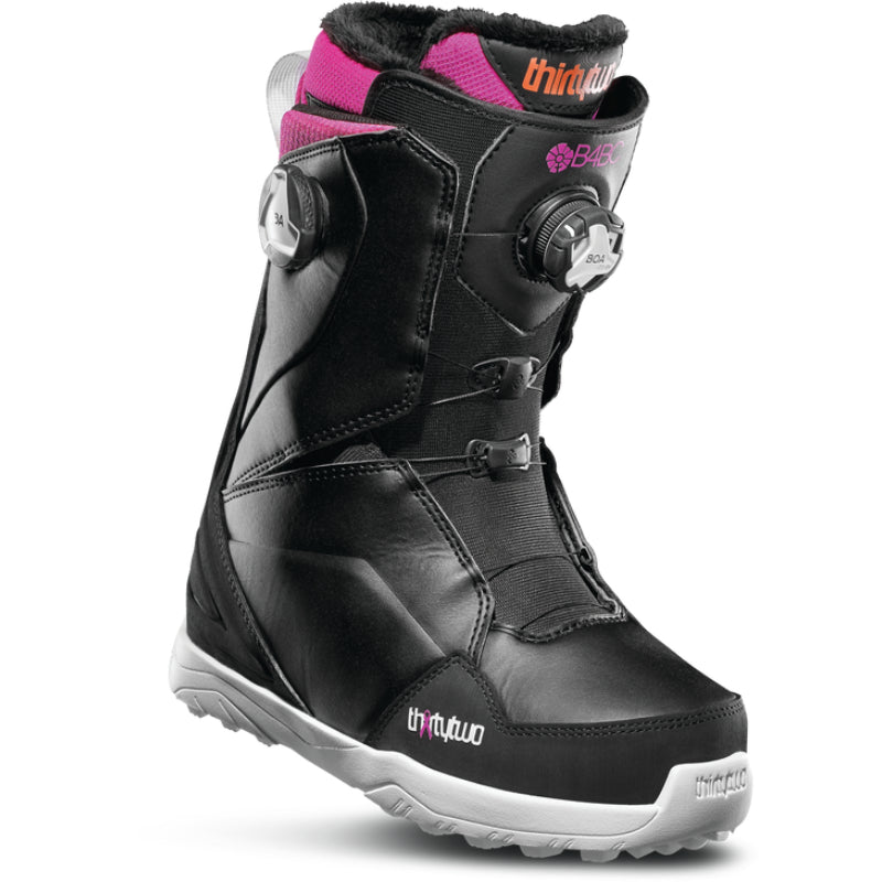 32 Lashed Double Boa Snowboard Boots Womens - B4BC Black Pink White
