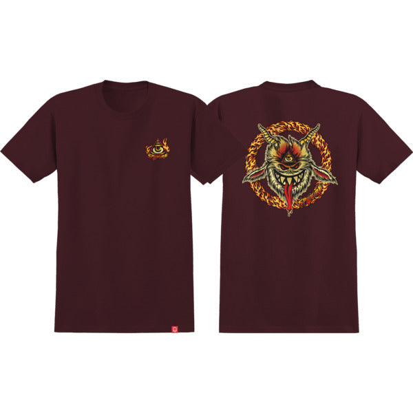 Spitfire Touch Of Satanl Tee - Mens - Burgundy