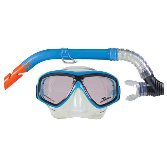 Land & Sea Bermuda Mask And Snorkel Set - Blue