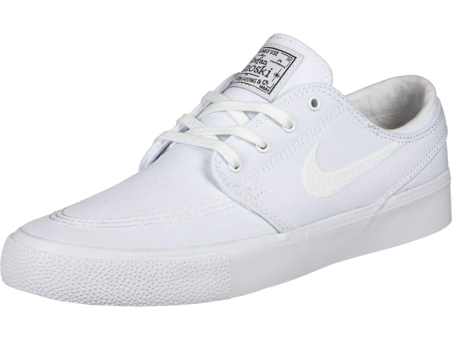 Nike SB Zoom Janoski Canvas Mens Shoes - White/White/Gum Light Brown