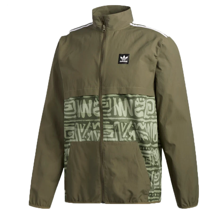 Adidas Dakari Class Action Jacket Mens - Raw Khaki/Night Cargo/White
