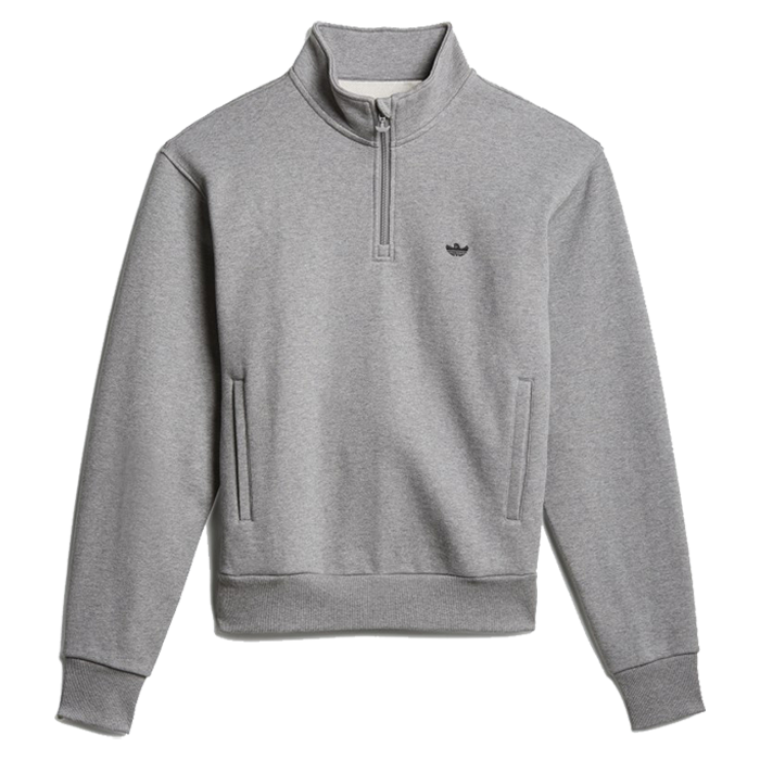 Adidas H Shmoo 1/4 Zip Mens - Core Heather/Black