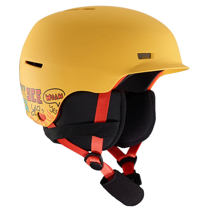 Anon Flash Helmet Kids - Pizza Yellow