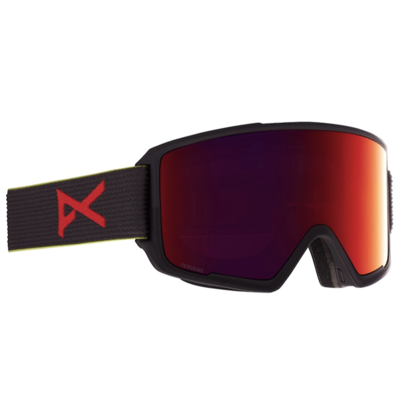 Anon M3 W/Spare Goggles Mens - Blkpop/Perceive Sunny Red