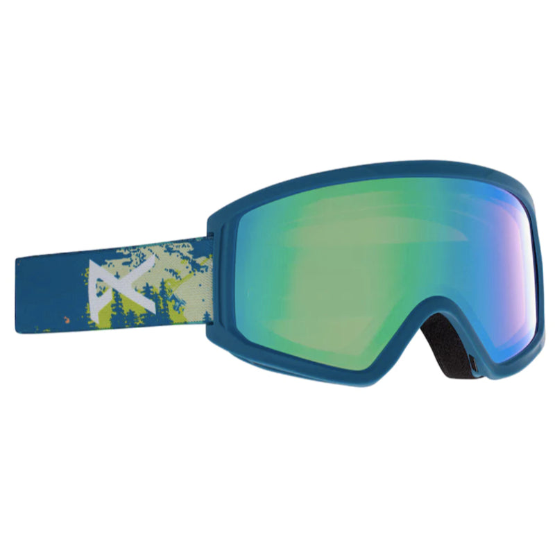 Anon Tracker 2.0 Goggles Kids - Blue Mtn/Green Amber