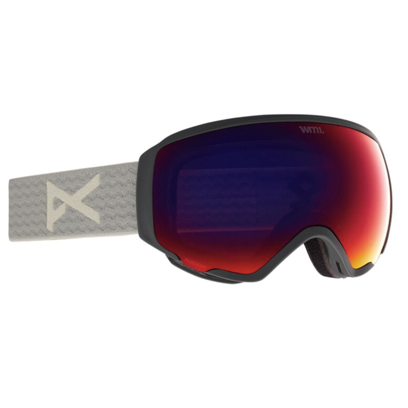 Anon Wm1 MFI W/Spare Goggles Womens - Gray/Perceive Sunny Red