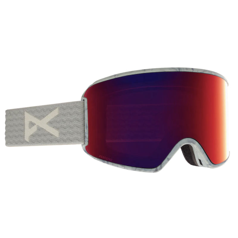 Anon Wm3 MFI W/Spare Goggles Womens - Gray/Perceive Sunny Red