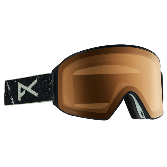 Anon M4 Cylindrical Goggles Mens - Topo Blk/Sonar Night