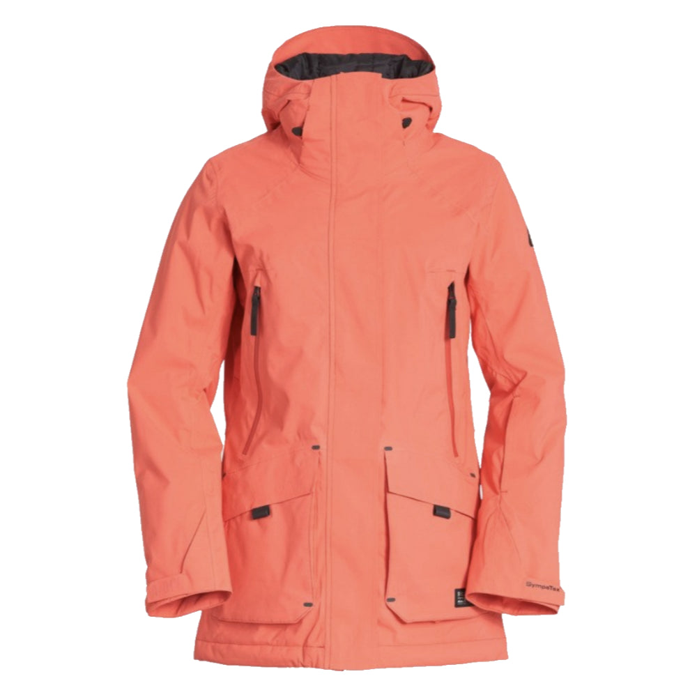 Billabong Trooper STX 2L 45K Jacket Womens - Sunset Red