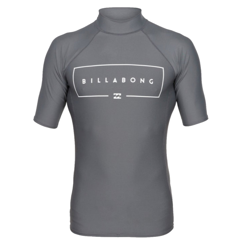 Billabong Union RF S/S Rashie - Mens - Charcoal