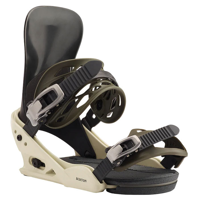 Burton Mission Bindings Mens - Off White/Black