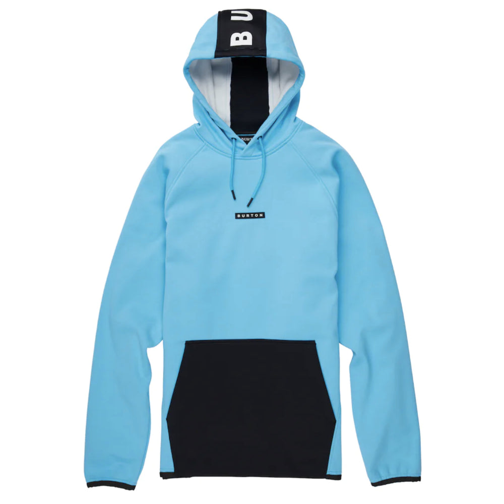 Burton Crown Weatherproof Pullover Fleece Mens - Cyan/True Black