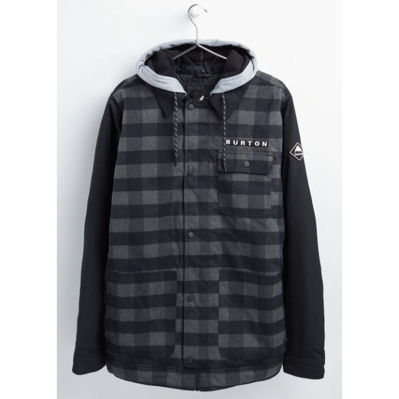 Burton Dunmore Jacket Mens - Black Heather Buffalo Plaid