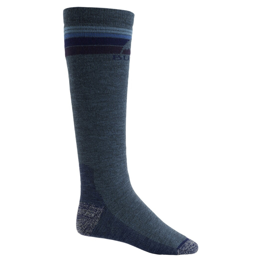 Burton Emblem Midweight Socks Mens - Indigo Heather